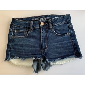 AEO • 6 • Hi-Rise Shortie Denim Jean Shorts